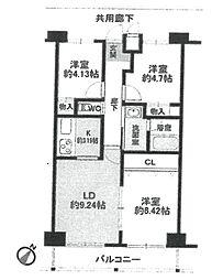 センチュリーハウス[305号室]の間取り