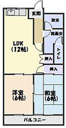 三重県松阪市川井町の賃貸アパートの間取り