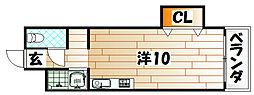 タツノビル[4階]の間取り