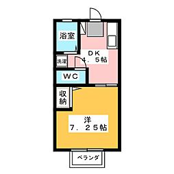 コーポ木崎[1階]の間取り