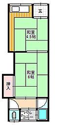萱島東2町目文化[2階]の間取り