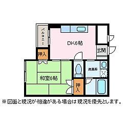 IWAIビル[4階]の間取り