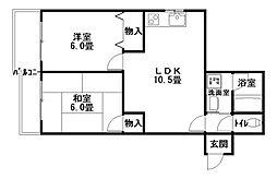 ファーストハウス[1階]の間取り
