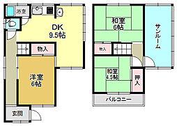 [一戸建] 奈良県大和高田市東三倉堂町 の賃貸【/】の間取り