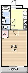 COCO三条天神川[202号室号室]の間取り