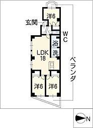 RESIDENCE35[6階]の間取り