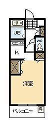 コーポマイホーム[202号室]の間取り