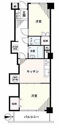 TSK蒲田フラワーマンション[4階]の間取り