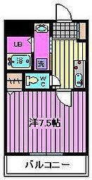 埼玉県さいたま市岩槻区愛宕町の賃貸マンションの間取り
