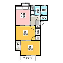 ハウス鈴木[1階]の間取り