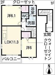 杏樹[2階]の間取り
