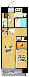 U's Residence門司港オーシャンテラス 1階1LDKの間取り