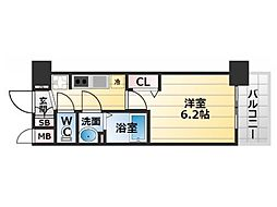 Osaka Metro堺筋線 恵美須町駅 徒歩5分の賃貸マンション 5階1Kの間取り