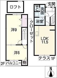 [タウンハウス] 岐阜県美濃加茂市西町6丁目 の賃貸【/】の間取り