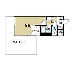 メイワマンション[201号室]の間取り