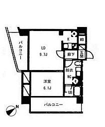 ヴォアラクテ西早稲田[1階]の間取り