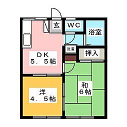 クイーンハイツII[1階]の間取り