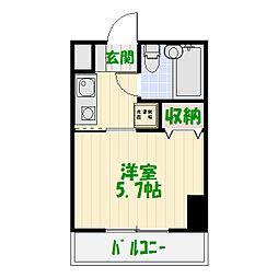 コスモ亀有V[11階]の間取り