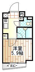 神奈川県相模原市南区大野台6の賃貸マンションの間取り