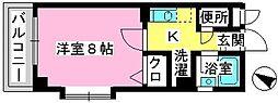 ジュネス井尻駅前[507号室]の間取り