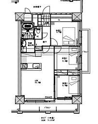 グランシャリオ三萩野[4階]の間取り