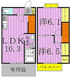 [テラスハウス] 千葉県白井市西白井4丁目 の賃貸【/】の間取り