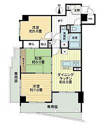 ライオンズマンション本山北町[102号室号室]の間取り