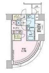 都営大江戸線 六本木駅 徒歩8分の賃貸マンション 6階1Kの間取り