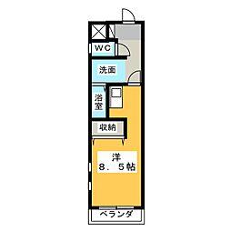 愛知県名古屋市名東区西山本通1の賃貸マンションの間取り