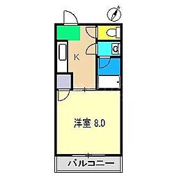 サンハイツ(奥田)[3階]の間取り
