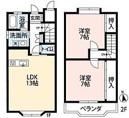 [テラスハウス] 静岡県袋井市豊沢 の賃貸【/】の間取り