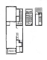 カーサ ガンベリ[3階]の間取り