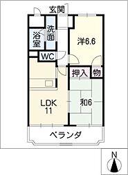CREST1[8階]の間取り