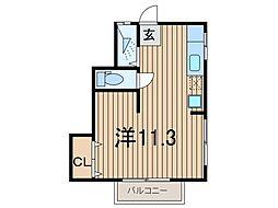 ハイツフランセ[1階]の間取り