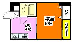ロータリープロピオ 403号室[4階]の間取り
