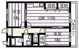 大県マンションII[3階]の間取り