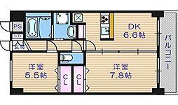 BGC難波タワー[12階]の間取り