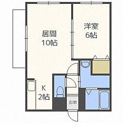 Enchan−the菊水(アンシャンテ菊水)[2階]の間取り