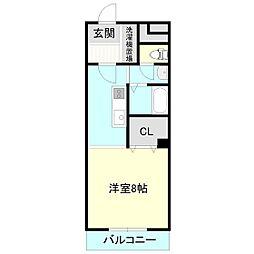 エスシーマンション[3階]の間取り