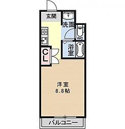 リジェール柳田[101号室号室]の間取り