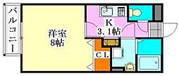 千葉県船橋市葛飾町2丁目の賃貸アパートの間取り