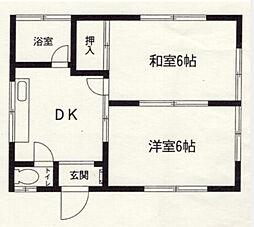 神奈川県横浜市中区鷺山の賃貸アパートの間取り