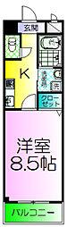 大阪府堺市堺区北庄町1丁の賃貸マンションの間取り