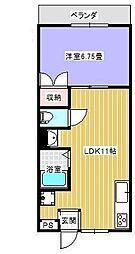 東京都大田区大森西6丁目の賃貸マンションの間取り