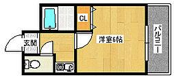 昌和富木[202号室]の間取り