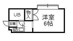 兵庫県宝塚市切畑字長尾山の賃貸マンションの間取り