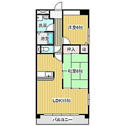 愛知県名古屋市中川区伏屋3丁目の賃貸マンションの間取り