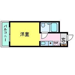 兵庫県神戸市灘区楠丘町6丁目の賃貸マンションの間取り
