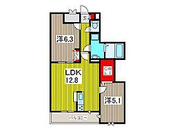 FLEX 川口II EAST[3階]の間取り