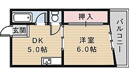 アッシュコート阿倍野[3階]の間取り